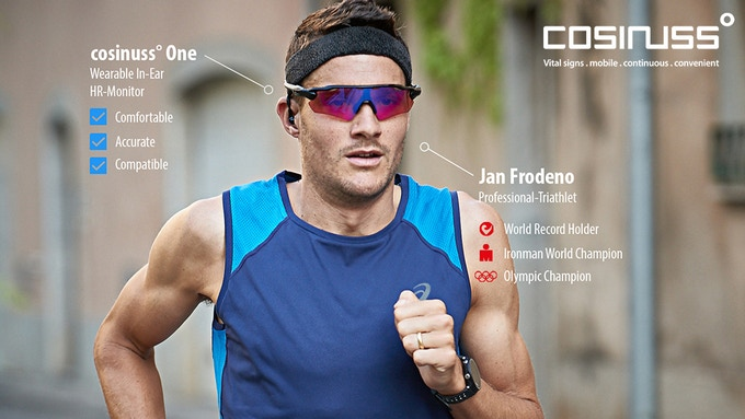 Jan Frodeno, two times IRONMAN world champion, is using cosinuss° technology.