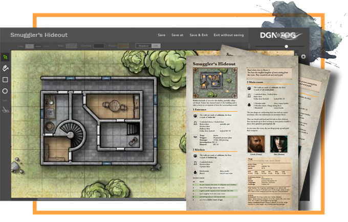draw maps & create dynamic game master notes