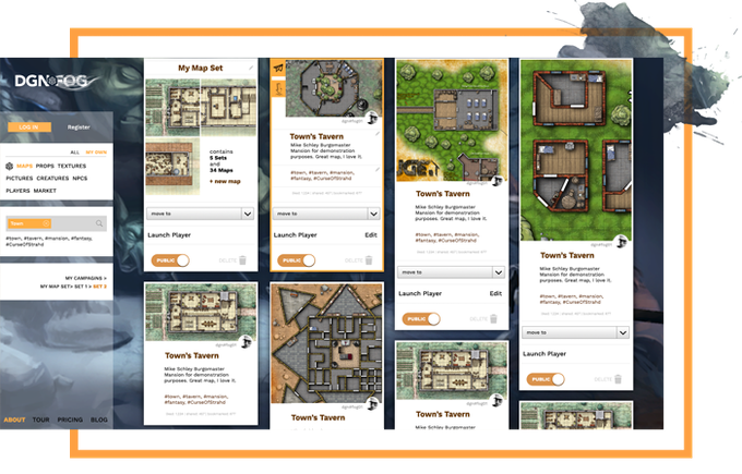 share your maps on the DUNGEONFOG platform