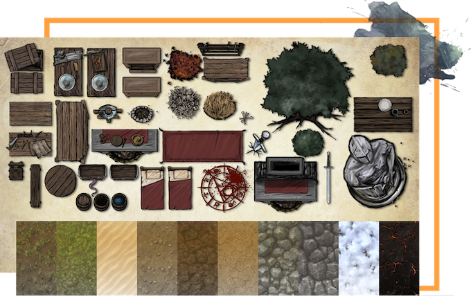 Sample of our BASIC prop & texture set