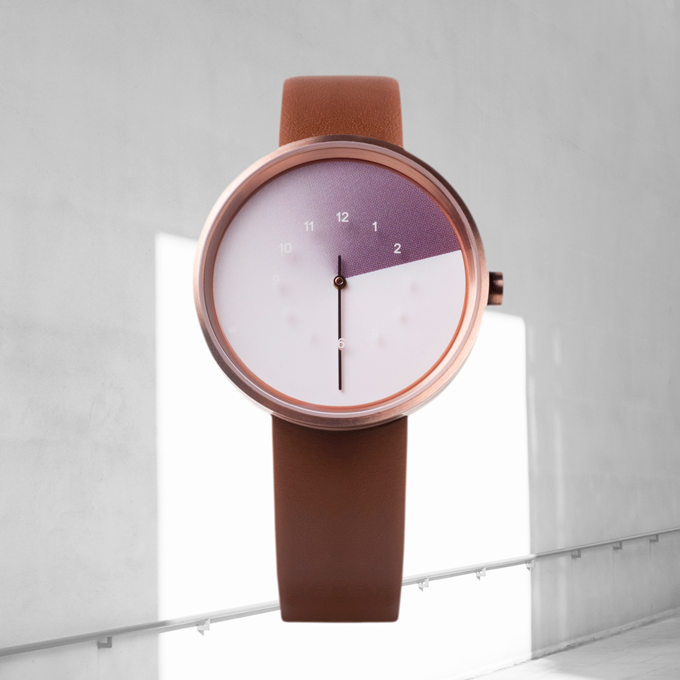 Rose gold watch + coffee straps