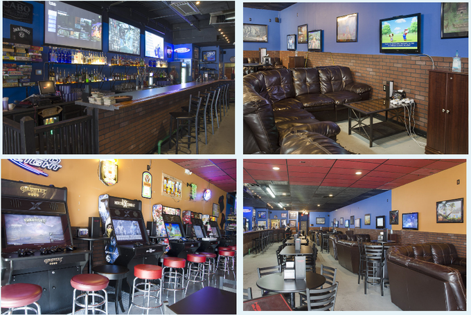 We have big projectors behind our bar that you can play xbox one, ps4, or wii u; Custom steam machines and cabinets with hundreds of games pre-loaded on them; Lounge seating for xbox360 & Nintendo Wii. A restaurant that you can play games at.