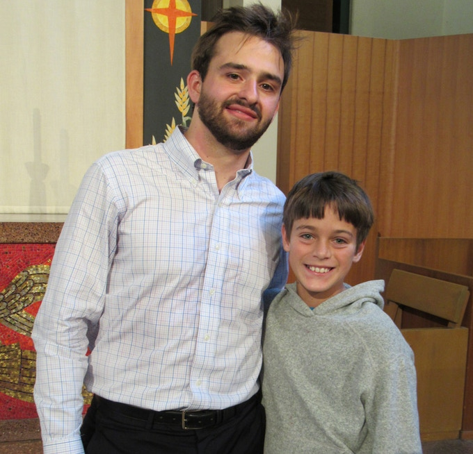 Wesley with William Hagen at last summer's music fest (click to learn about Mr. Hagen)