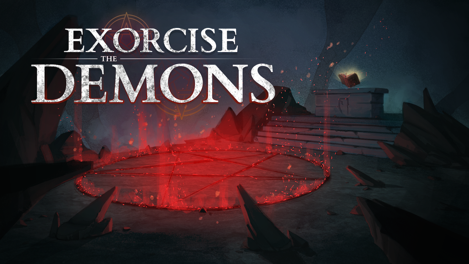Exorcise The Demons is a cooperative game. Play as an exorcist while your friends tell you how to do your rituals!