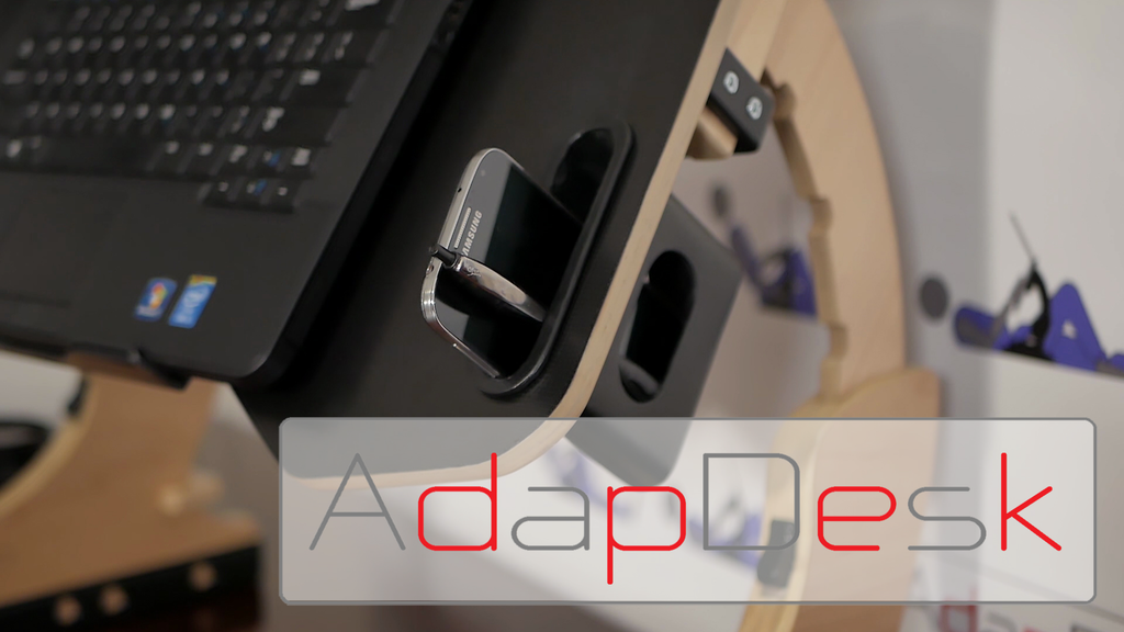 AdapDesk: The World's First Portable Work Station project video thumbnail
