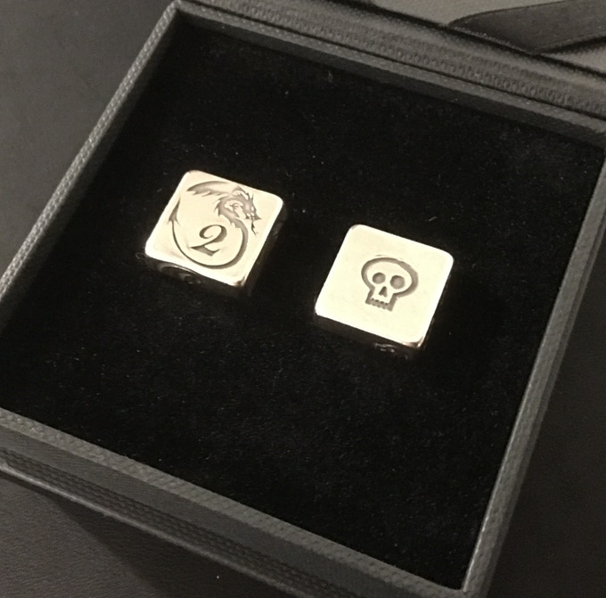 Silver Dice Pair in Box