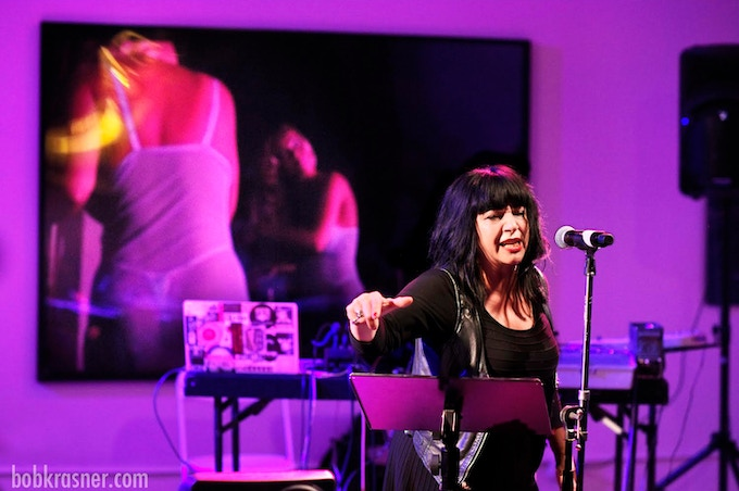 Lydia Lunch performing at HOWL! Happening (Photo: Bob Krasner)