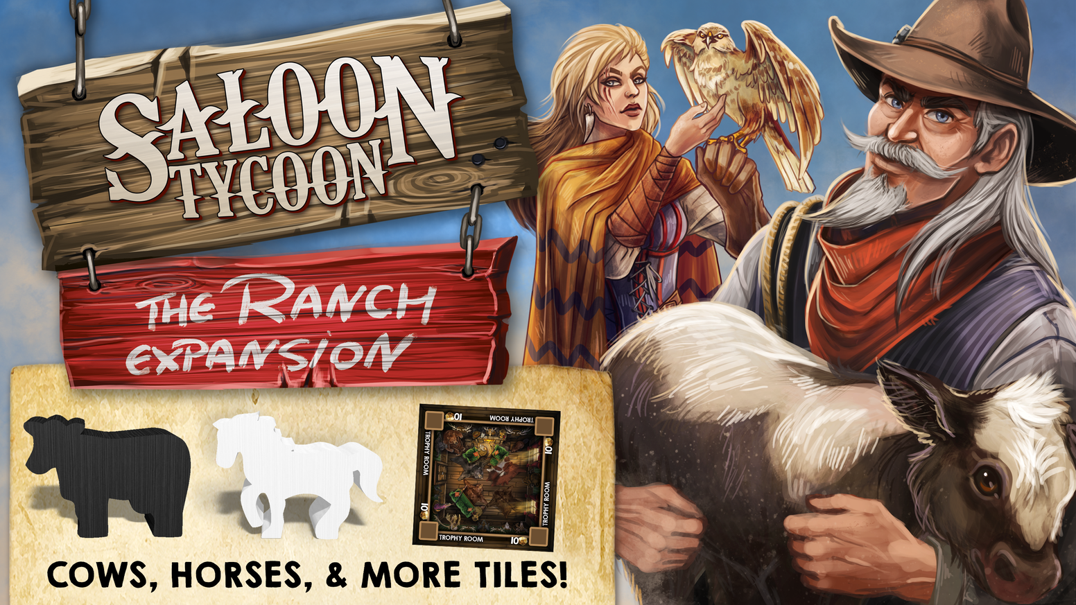 Yee-Haw! Introducing The Ranch Expansion for Saloon Tycoon, the 3D tile laying game set in the old west. Base game also available.
