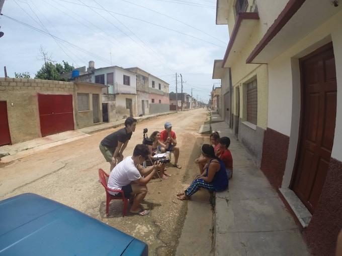 Interviewing 5th generation Korean descendant youth in Cardenas, Cuba