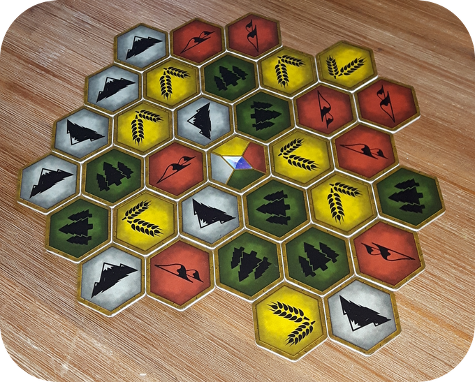 * Actual board tiles. Final product may vary in size and images may be changed