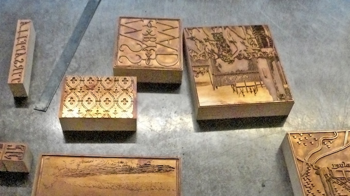 Selection of copper photoengravings used to illustrate the letterpress portfolio