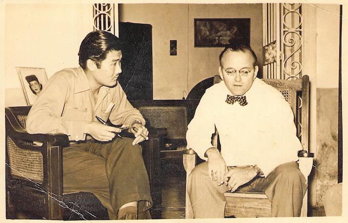 Jeronimo Lim and Eduardo Chibas in 1949