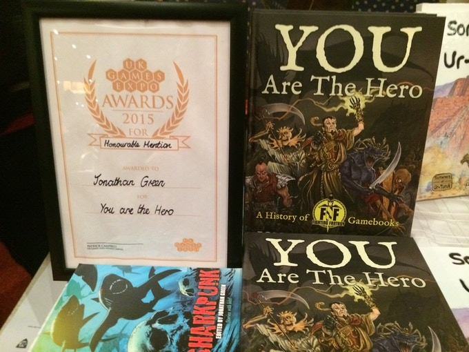 YOU ARE THE HERO receives at Honourable Mention at the UK Games Expo Awards in 2015