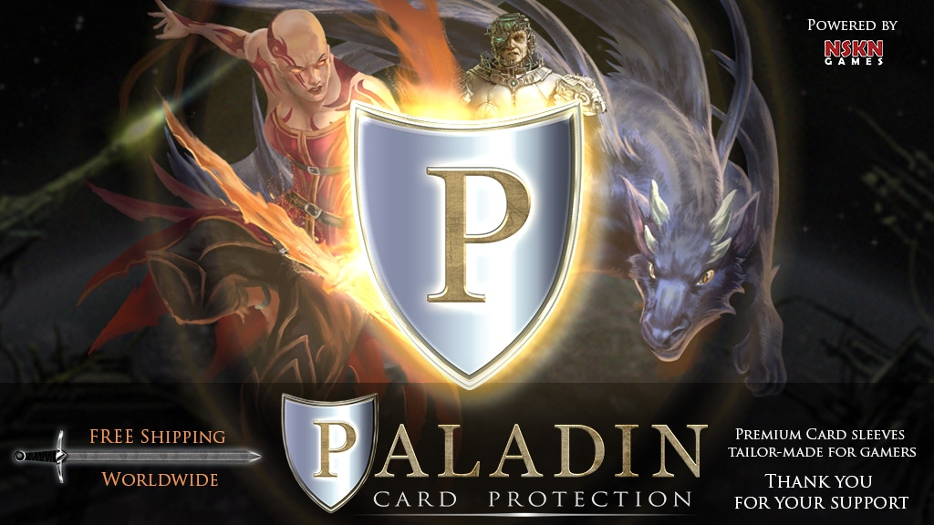 Paladin Card Protectors - Premium Sleeves for Gamers project video thumbnail
