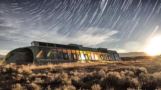 An Earthship in Taos, NM : Earthships are completely self-reliant modern homes.
