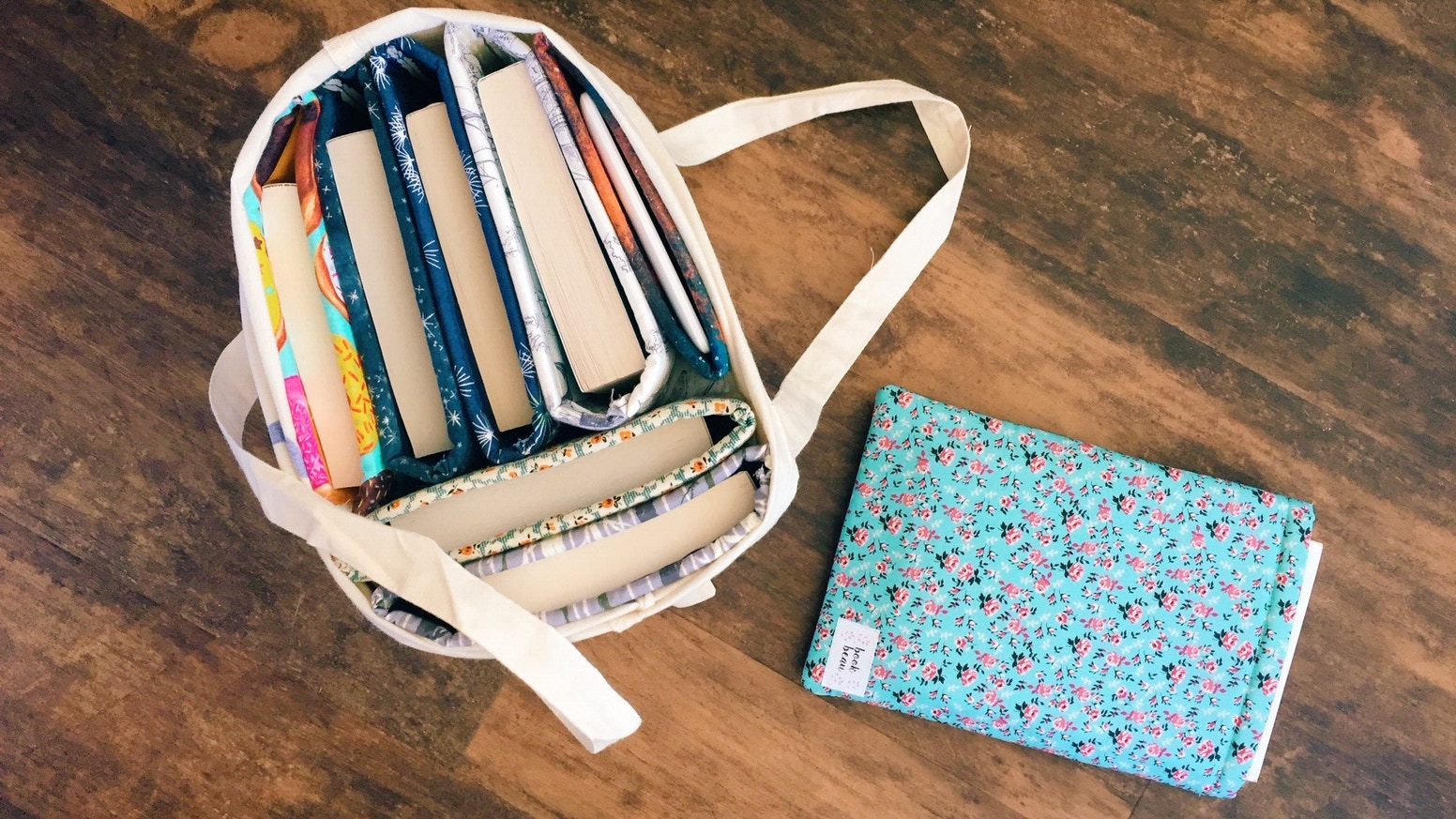 A water and stain resistant sleeve, that protects your books and makes them look beautiful.