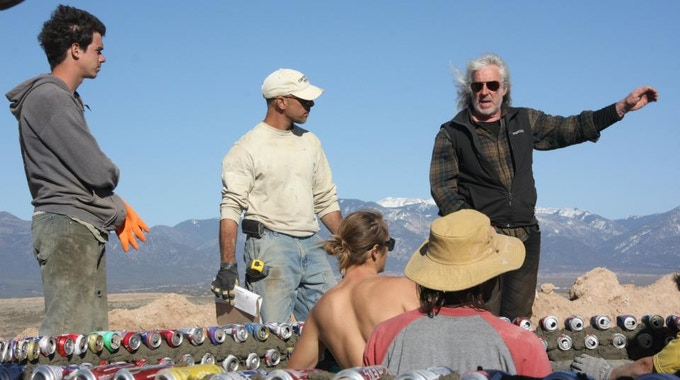 In 2012 I attended the Earthship Academy in Taos, NM to study with architect, Michael Reynolds, and his crew.