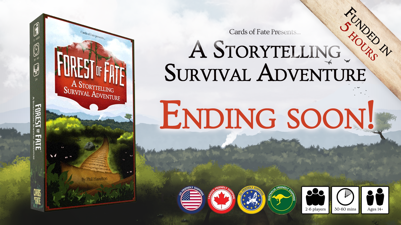 Storybook game for 2-6 adventurers. Use teamwork and tough decisions to find your fate and make it home with the tale of a lifetime.