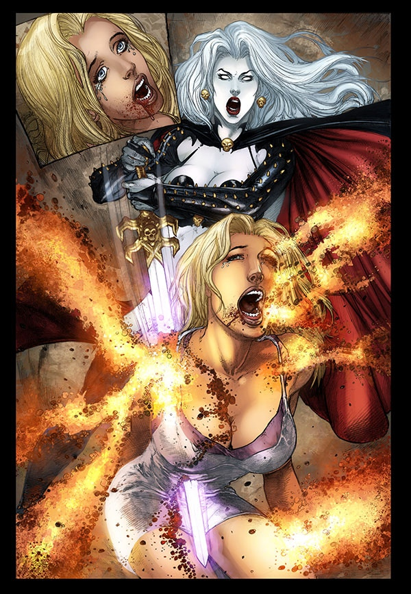 Don't piss off Lady Death -- !!!