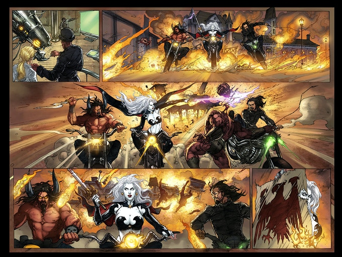 Just a little ultra-violence, Lady Death style -- !!!