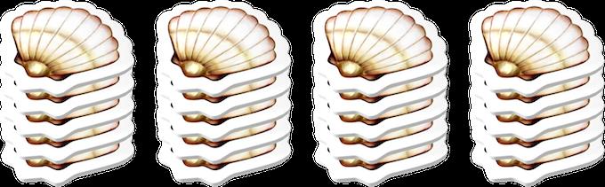 20 shell tiles