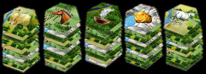 50 Hex tiles