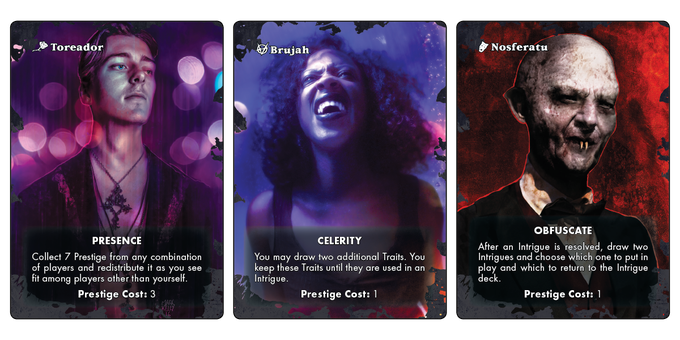 Three of the Clan cards.