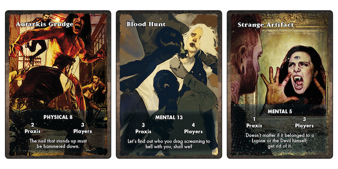 Three of the Intrigue cards.