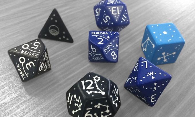 Constellation Dice Set prototypes