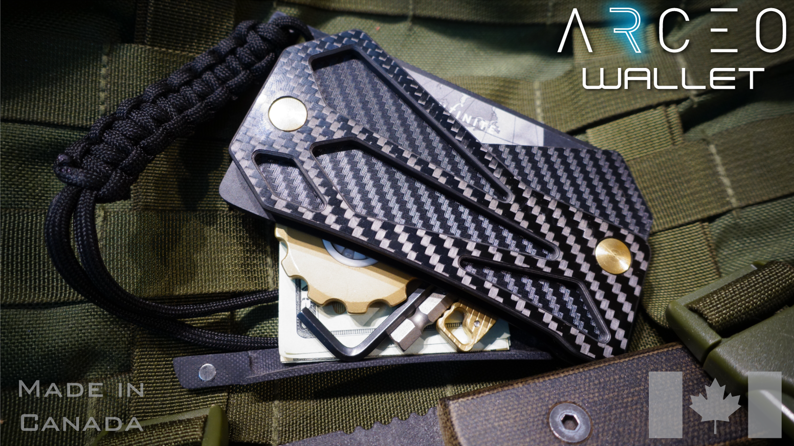 The ultimate rugged wallet combines advanced carbon fiber materials with a magnetically sealed case to protect your everyday carry.