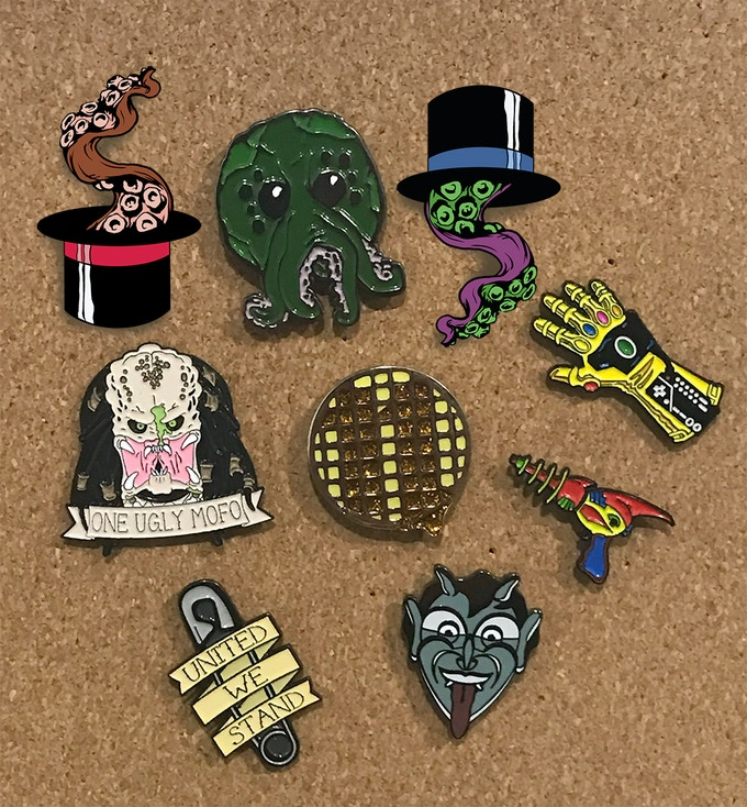Our Previous Pin Designs (Available in the Optometrist level)