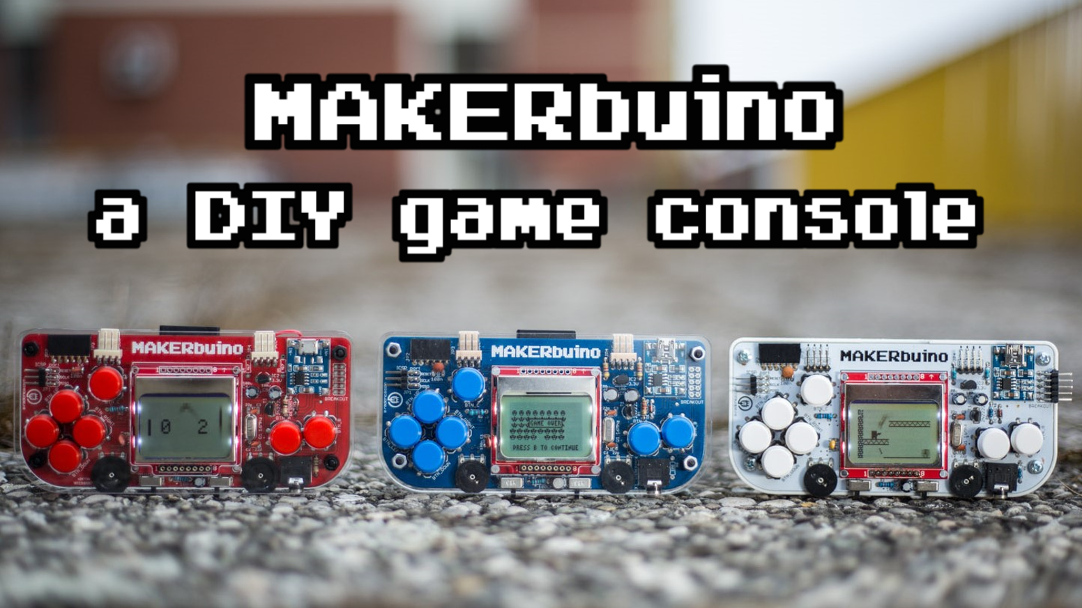 MAKERbuino is a handheld retro gaming device that you can build yourself. It's 8-bit, fun, educational and hackable.