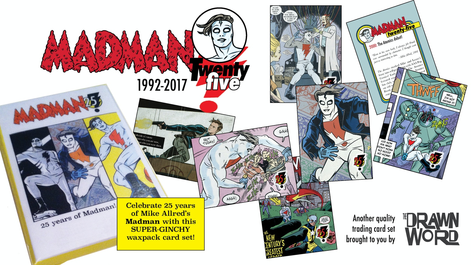 Celebrate 25 years of Mike Allred's Madman with 25 trading cards in an old school wax wrapper