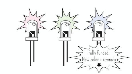 Glow in the Dark Enamel LED Pins by Alysia Dynamik
