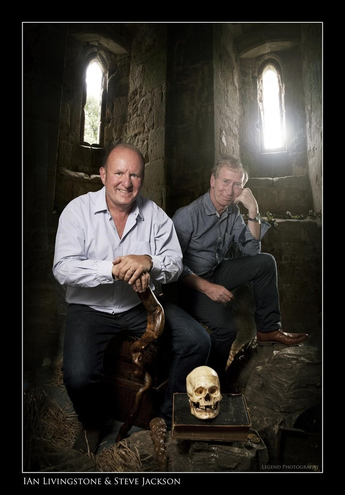 Ian Livingstone and Steve Jackson photographed by Oliver McNeil at Fighting Fantasy Fest.