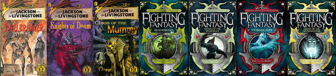 Fighting Fantasy Gamebooks written by Jonathan Green.