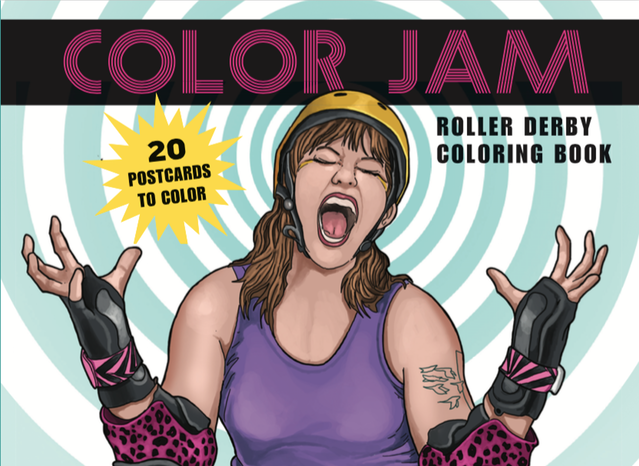 Roller derby is an incredibly colorful sport. Help make an incredible coloring book!