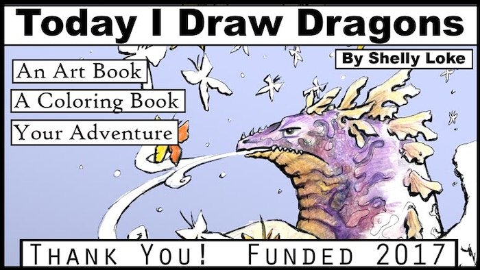 """Today I Draw Dragons"" is an exploration of pen art by Shelly Loke and an adventure of coloring fun for you."