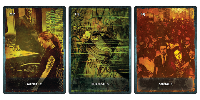 Three of the Trait cards.