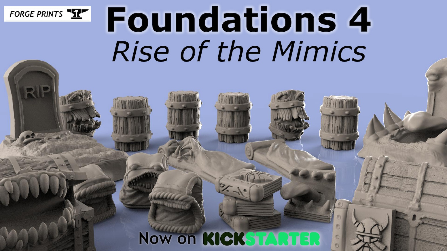 Foundations 4 Rise of the Mimics! Perfectly nasty little creatures for any tabletop gaming experience.