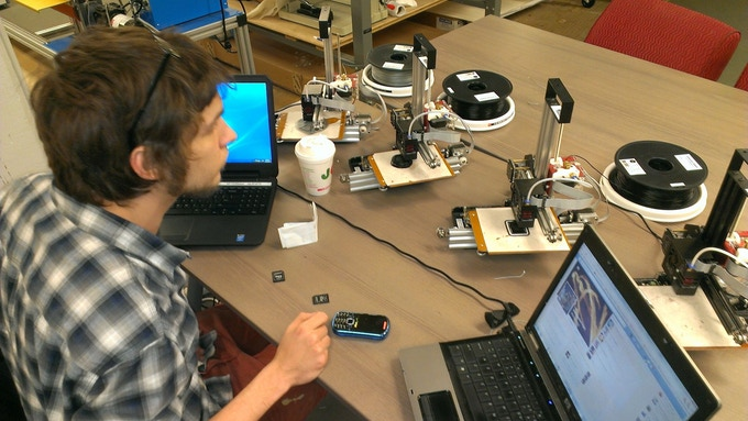 Printing On BukitoBots @ Nextfab Studios!
