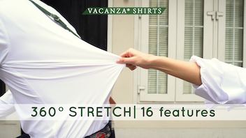 VACANZA® Shirts 360˚ STRETCH | 16 features