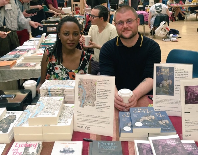Sanya Semakula and Gary Budden at the London Radical Bookfair, 2016
