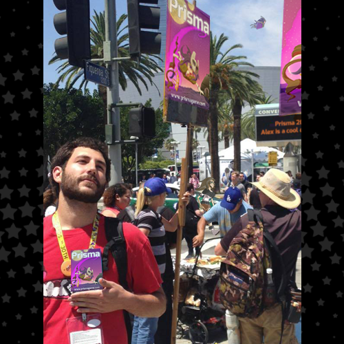 Alex preaching the gospel of Prisma to E3 attendees