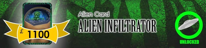 The Alien Invader will be joining the main deck as a Level 2 Alien enemy!