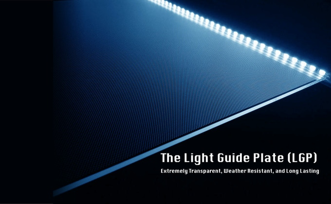 LGP scatters the light emitted from the light source.
