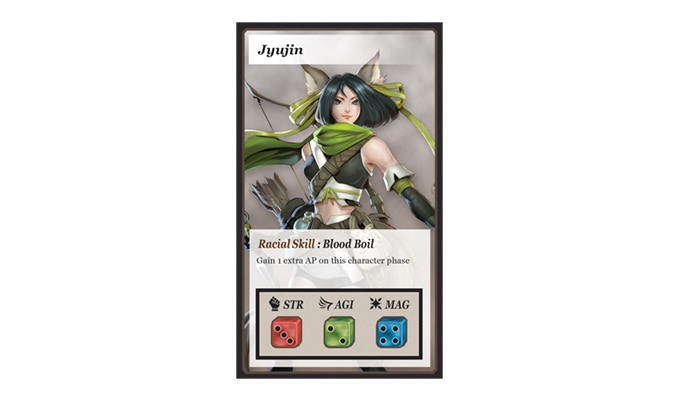 The Jyujin is agile, able to succeed an agility roll with a 2+ dice roll