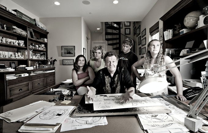 Family Circus Cartoonist Jeff Keane and Family