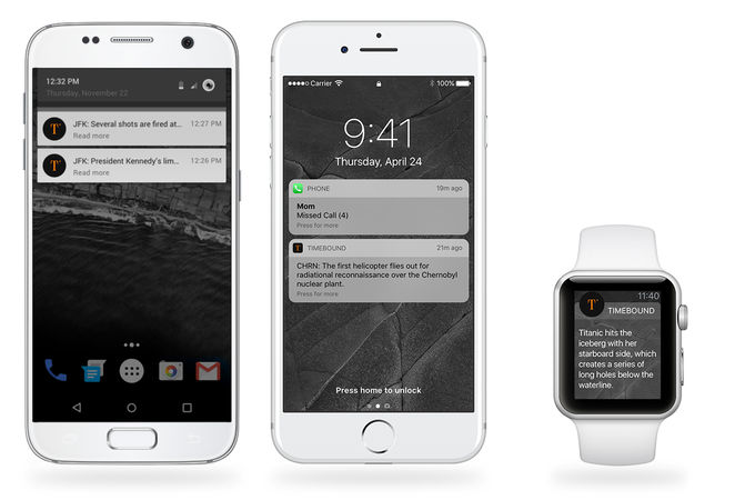 With push-notifications, you'll never miss a Timebound update, even if you miss something else