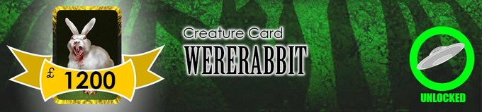 The dreaded Wererabbit, of Era: Lyres fame, will join the Aliens in their invasion as a level 2 Creature!